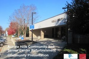 Community Center/Library Renovations – Public Meeting
